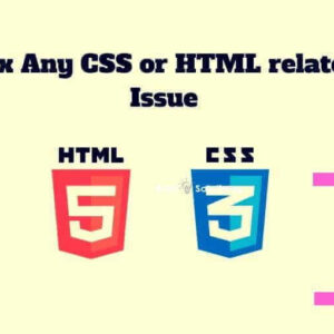 fix html and css errors
