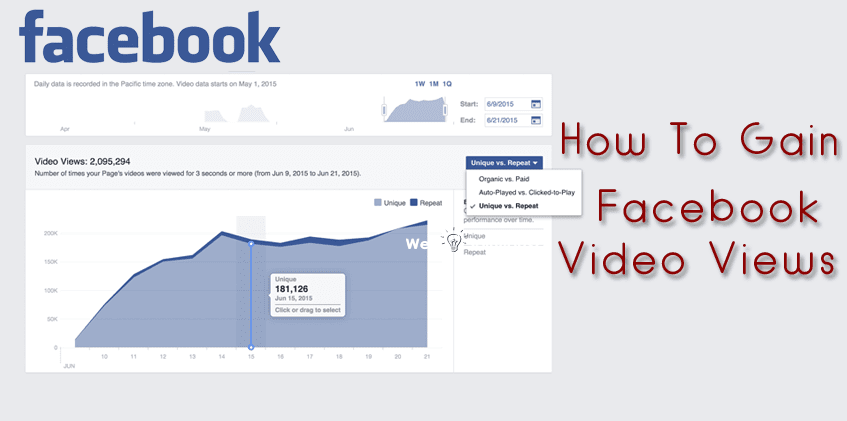 How to Gain Facebook Video Views